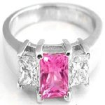 pink diamond - center stones for engagement rings - dazzling rock