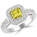 yellow diamond - center stones for engagement rings - dazzling rock