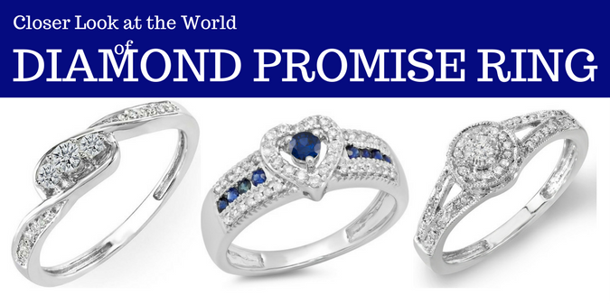 A Closer Look at the World of Diamond Promise Rings - dazzling rock