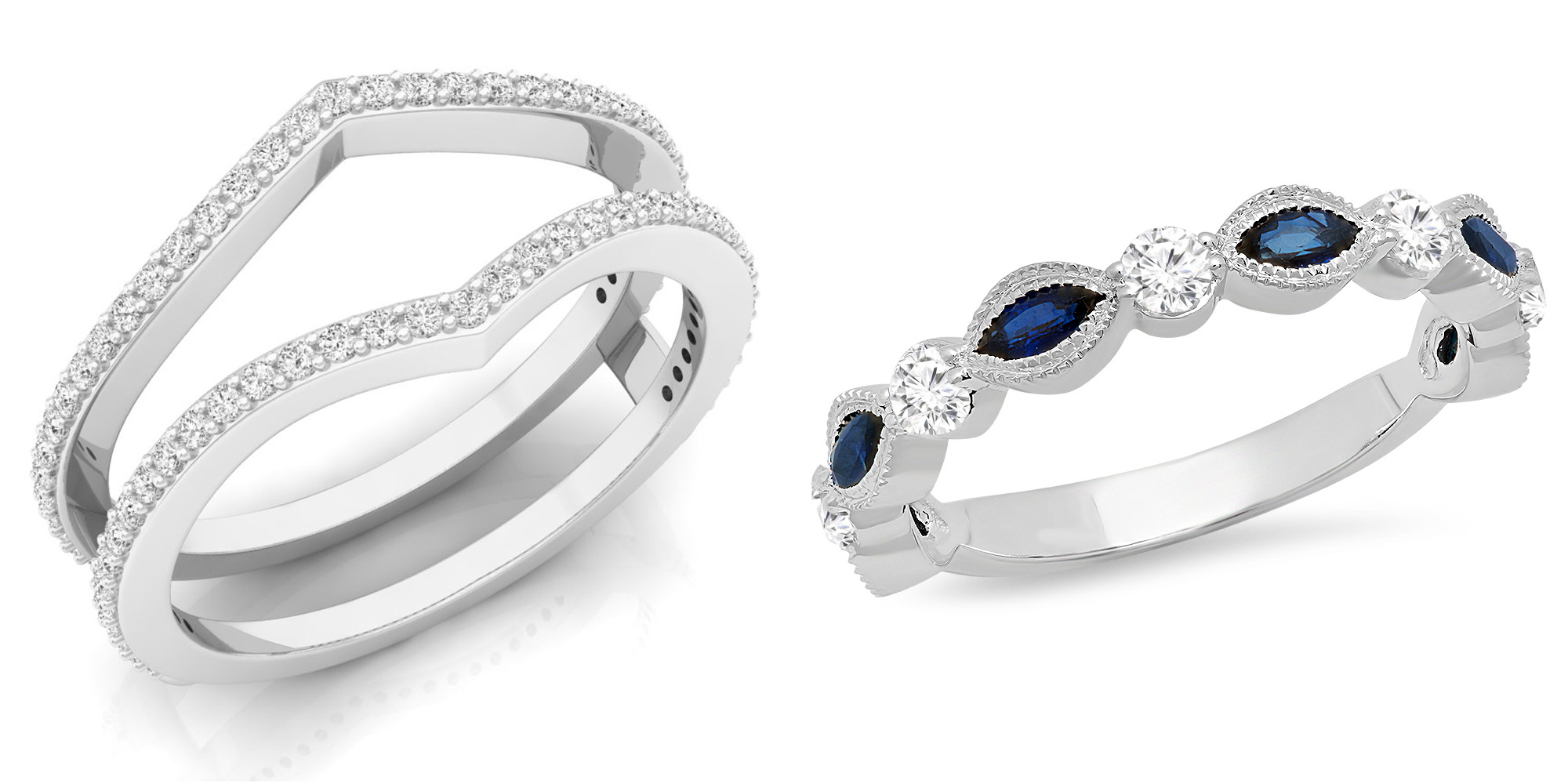 Diamond Anniversary Ring For wedding and anniversary- Dazzling Rock