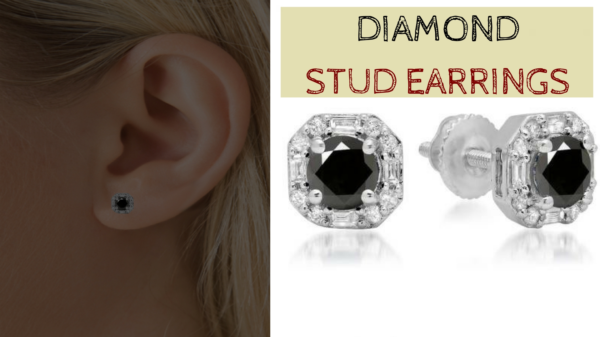 Add touch of elegance to your look with diamond stud earrings