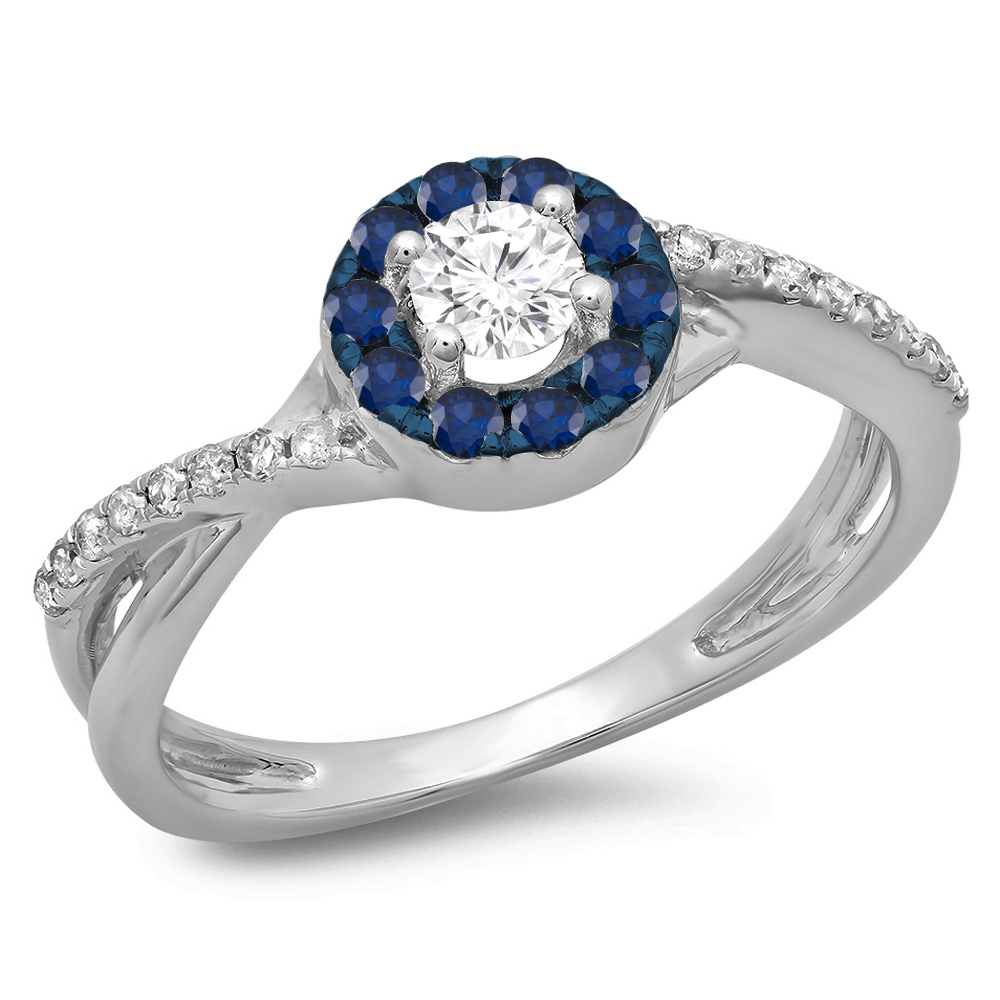 DR3809-2666-14KW - three stone engagement rings