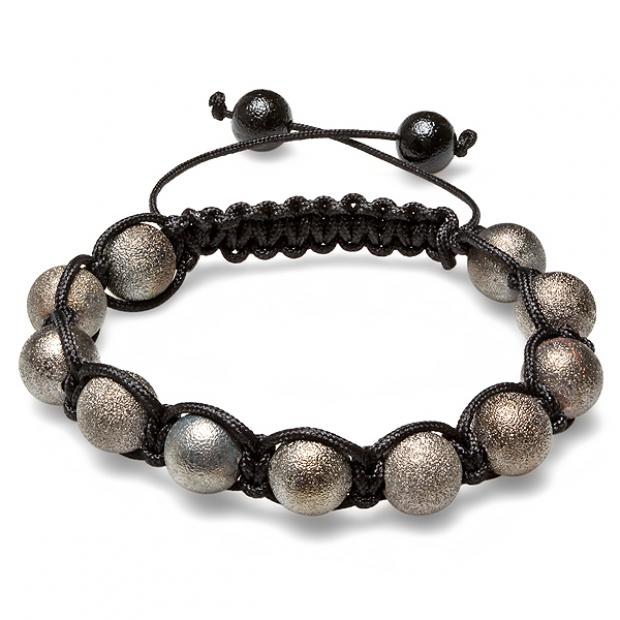 Shamballa Bracelet Pave Mens Ladies Unisex Hip Hop Style Eleven Gun Powder Tone Frosted Ball Bead Adjustable