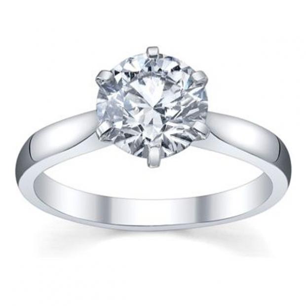 IGI Certified 0.90 Carat (ctw) 14K White Gold Brilliant Round Diamond Ladies Bridal Engagement Solitaire Ring