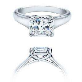 Certified 0.76 Carat (ctw) 14K White Gold Real Princess Diamond Ladies Engagement Solitaire Ring
