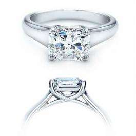 1.02 Carat (ctw) 14K White Gold Princess Cut Diamond Solitaire Engagement Bridal Ring
