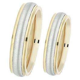14k Yellow Gold Men's Ladies Unisex Ring Fancy Wedding Band 5MM Stepped Edges Brushed & Polished Comfort Fit (Available in Sizes 4 to 12)