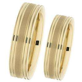 14k Yellow Gold Men's Ladies Unisex Ring Fancy Wedding Band 6MM Flat Grooved & Polished Shiny Comfort Fit (Available in Sizes 4 to 12)