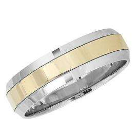 14k White Men's Ladies Unisex Ring Fancy Wedding Band 6MM Flat Shiny Polished Traditional Fit (Available in Sizes 4 to 12)