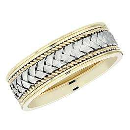14k Yellow Gold Men's Ladies Unisex Ring Fancy Wedding Band 7.5MM Engraved And Shiny Polished Traditional Fit (Available in Sizes 4 to 12)