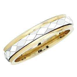 14k Yellow Gold Men's Ladies Unisex Ring Fancy Wedding Band 5MM Flat Laser Engraved And Shiny Polished Traditional Fit (Available in Sizes 4 to 12)