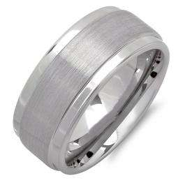 Cobalt Men's Ring Wedding Band 9MM Brushed Finish in Center and Polished Shiny Comfort Fit (Available in Sizes 7 to 12)