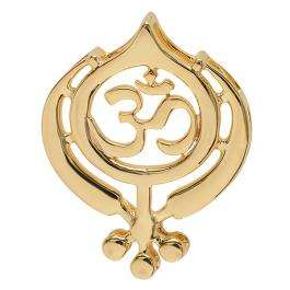 18K Yellow Gold Religious OM Pendant ( 14.9 mm Width x 18.5 mm Length )