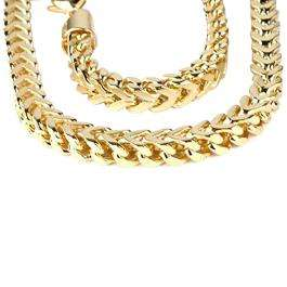14K Yellow Gold Men's Franco Chain Necklace (28 Inch)