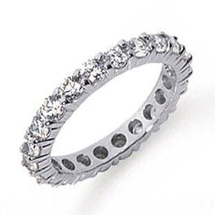 2.01 Carat (ctw) 14k White Gold Round Diamond Ladies Eternity Wedding Band