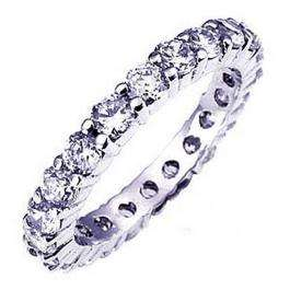 CERTIFIED 1.00 Carat (ctw) 14K White Gold Round Diamond Ladies Eternity Wedding Anniversary Stackable Ring Band