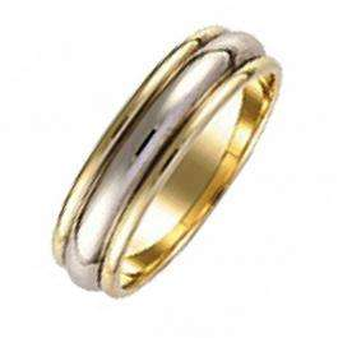 14K White Gold Mens 5 mm Classic Wedding Band