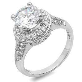 2.50 CT Classic Ladies Round Cubic Zirconia CZ Engagement Ring (Available in size 6 7 8)