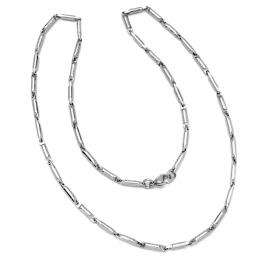 Stainless Steel Mens Ladies Unisex Fancy Bar Celtic Greek Chain Necklace 23 inch long 3 mm thickness Lobster Clasp