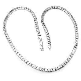 Stainless Steel Mens Fancy Chain Necklace 38 inch long 10 mm thickness Lobster Clasp