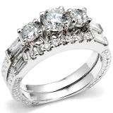 Bridal Engagement Ring Set with Matching Band